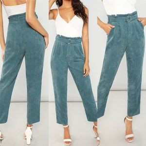 Pants - 🆕BELTED HIGH WAIST ANKLE CORD PANTS
